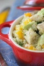 Image of a Chicken and Avocado Quinoa Summer Salad in a Bowl