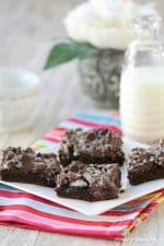 Gooey Cookies and Cream Double Chocolate Cake Bars