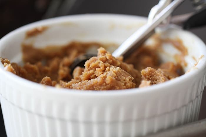 Image of Peanut Butter Cookie Dough in a Ramekin
