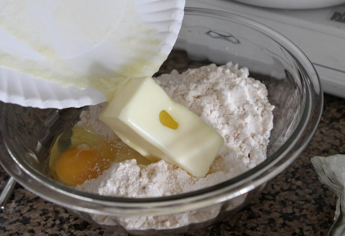 Image of Adding Butter to Cake Mix