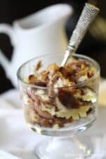 Image of Cheesecake Cookie Bread Pudding with Caramel Sauce
