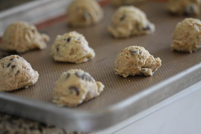 Image of Peanut Butter Truffle Chocolate Chip Cookies Cookie Dough Scoops