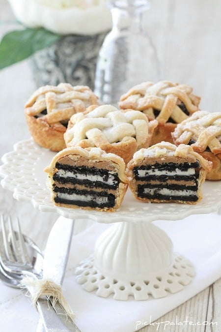 Image of Six Mini Oreo & Peanut Butter Lattice Pies