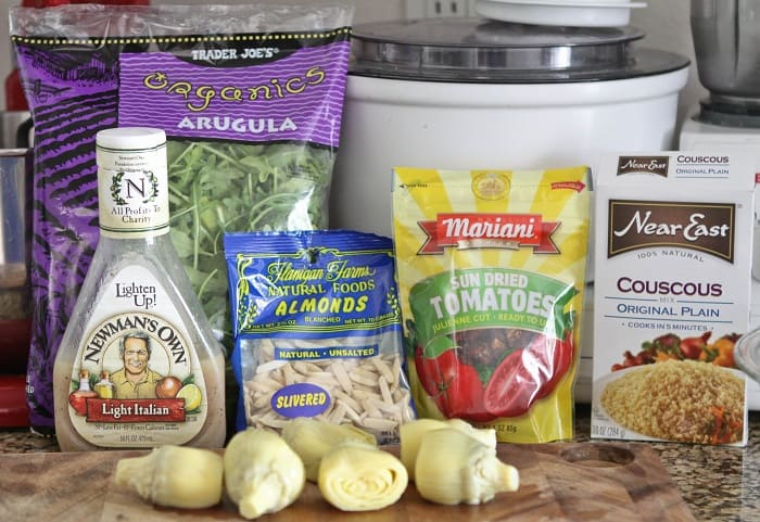 Image of Ingredients for Almond Artichoke Summer Couscous