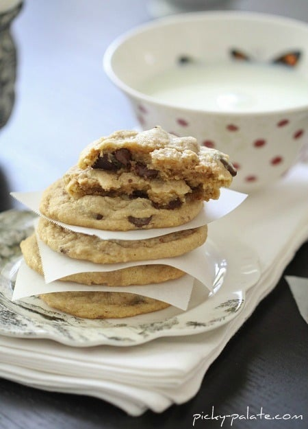 Chocolate Chip and Peanut Butter Truffle Swirled Cookies - Picky ...