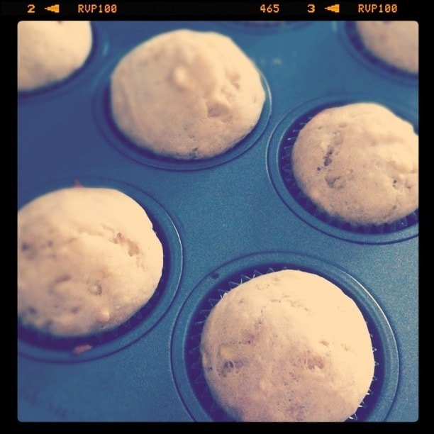 Image of Peanut Butter Truffle Banana Bread Muffins Fresh from the Oven