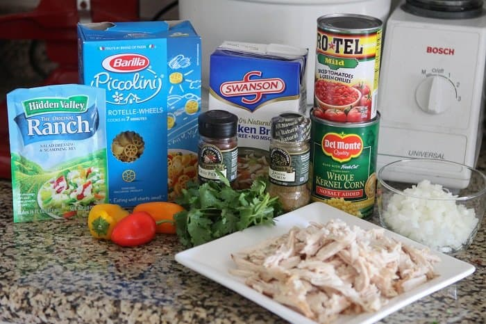 Image of Ingredients for Southwest Chicken Chili Mac