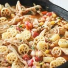 Southwest Chicken Chili Mac….Skillet Style