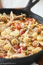 Southwest Chicken Chili Mac....Skillet Style