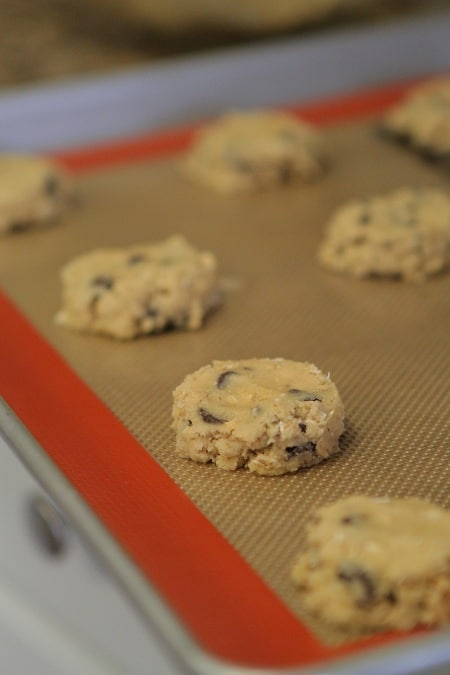 Image of Unbaked Chocolate Chip Oatmeal Cookies