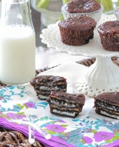 15 Oreo Peanut Butter Brownie Cakes 108sm