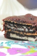 Image of a Peanut Butter Oreo Brownie Cake