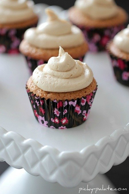 Biscoff Cupcakes with Biscoff Buttercream - Picky Palate