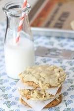 Biscoff Stuffed White Chocolate Chip Cookies