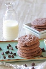 Brownie Batter Chocolate Chip Cookies