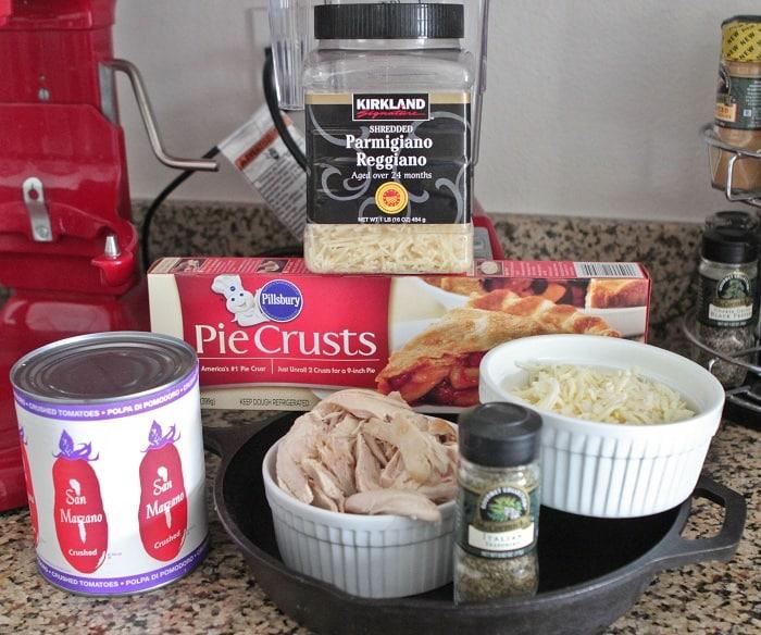Chicken Parmesan Skillet Pot Pie - Picky Palate