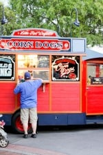 Disneyland's Corndog Truck on Main Street