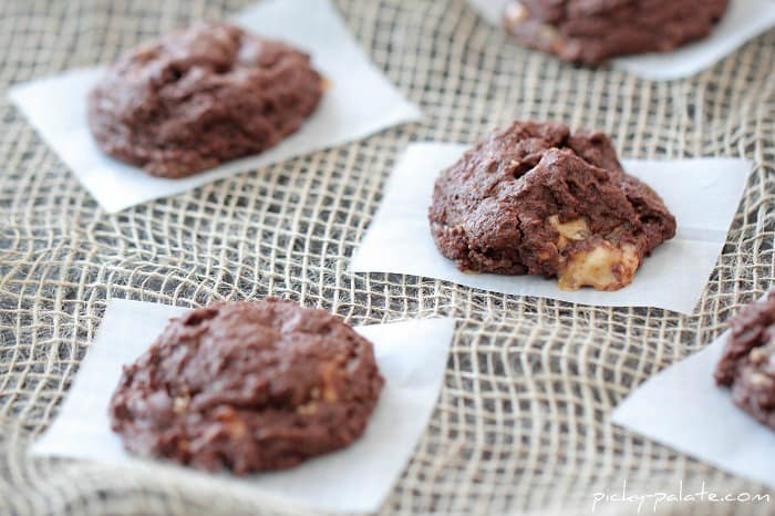 Image of Double Chocolate Snickers Chunk Cookies