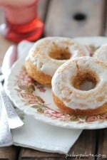 Baked Pumpkin Ice Cream Glazed Donuts