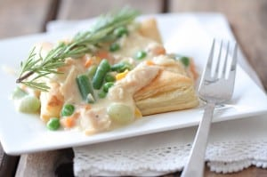 Inside Out Chicken Pot Pie