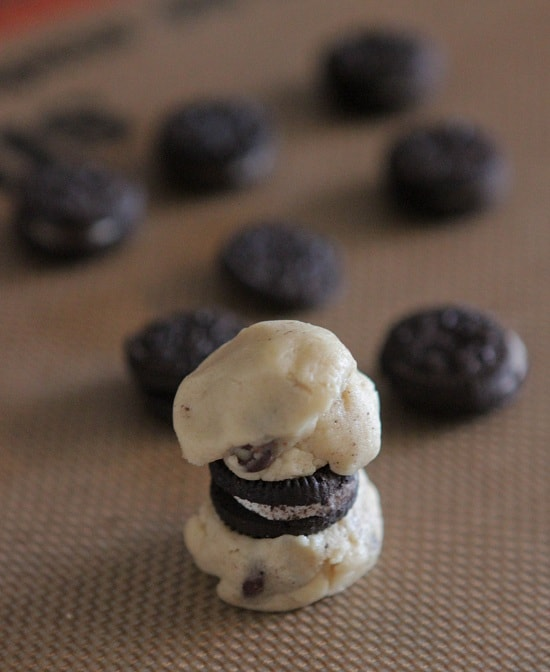 Itty Bitty Oreo Stuffed Chocolate Chip Cookies - Picky Palate