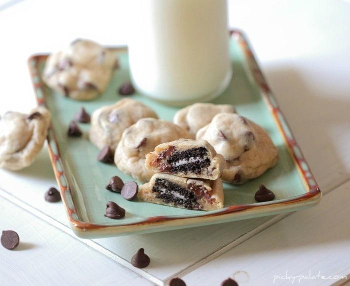 Itty Bitty Oreo Stuffed Chocolate Chip Cookies - Picky Palate