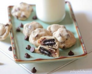 Itty Bitty Oreo Stuffed Chocolate Chip Cookies 106sm