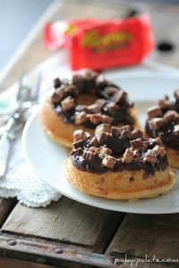 3 Reeses Peanut Butter Cup Baked Donuts 015