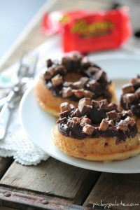 Baked Reeses Peanut Butter Cup Donut