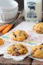 Pumpkin Toffee Chip and Rolo Chunk Cookies