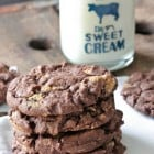 Chocolate Cake Reeses Peanut Butter Chunk Cookies