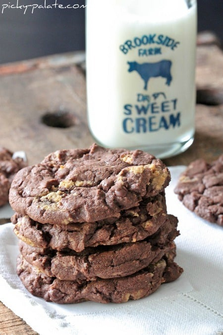 Chocolate Cake Reeses Peanut Butter Chunk Cookies - Picky ...