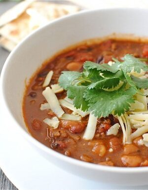 Image of a Bowl of Classic Beef & Beans Chili
