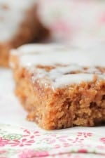 Image of a Cinnamon Roll Gingerbread Bar