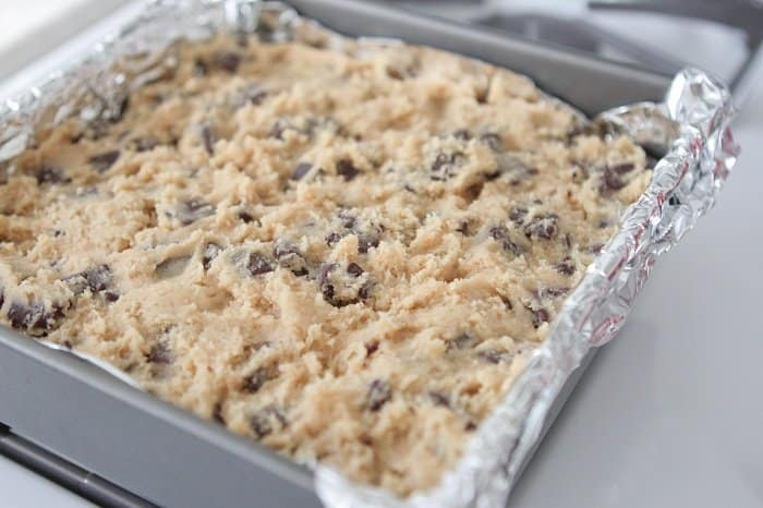 Peppermint Patty Surprise Chocolate Chunk Cookie Bars - Picky Palate