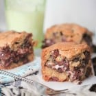 Peppermint Patty Surprise Chocolate Chunk Cookie Bars