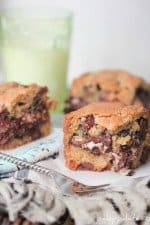 Image of Peppermint Patty Chocolate Chunk Cookie Bars