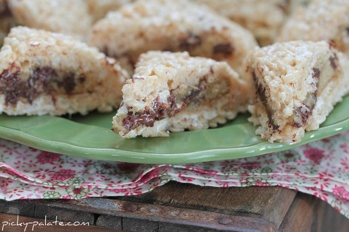 Image of Inside Out Rice Krispie Chocolate Chip Cookies