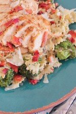 Image of Creamy Pesto Chicken Pasta with Bacon & Veggies