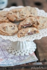 Image of Raspberry Peanut Butter Chocolate Chip Cookies