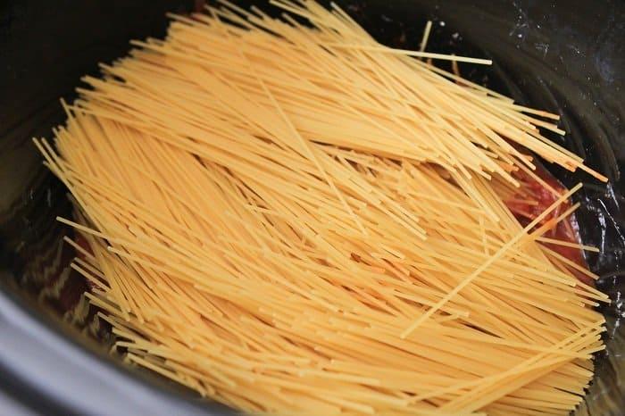 Creamy Crock Pot Spaghetti