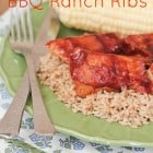 Slow Cooker BBQ Ranch Country Ribs