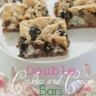 Double Cookies and Cream Kiss Cookie Bars