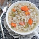 Hearty Chicken Barley Soup with Vegetables and Giveaway!!
