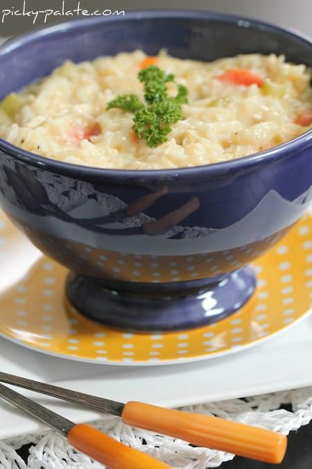 Classic Cheesy Chicken and Rice Soup - Picky Palate