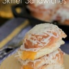 Hot Ham and Cheese Butter Dijon Skillet Sandwiches