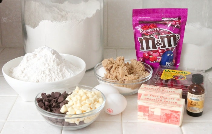 Raspberry Scented M&M Cookies - Picky Palate