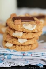Image of Stacked Peanut Butter S'mores Cake Cookies