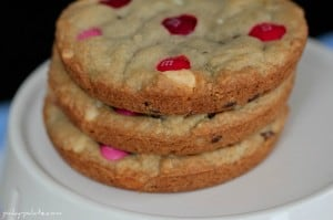 Raspberry Scented Chocolate Chip M&M Cookies 6