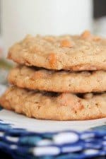 Stack of Oatmeal Butterscotch Caramel Cookies